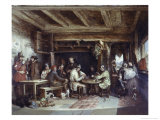 News from India: Tavern Scene Giclee Print by Alfred W. Elmore