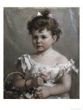 Helene Loeb Lyon as a Young Girl Giclee Print by Paul Merwart