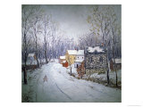Winter in Bucks County Giclee Print by Carol Sirak