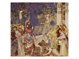 Christ at the Gates of Jerusalem Giclee Print by  Giotto di Bondone
