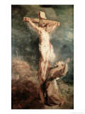 Saint Francis Before the Crucified Christ Giclee Print by Peter Paul Rubens