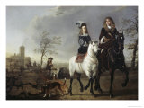 Lady and Gentleman on Horseback Giclee Print by Aelbert Cuyp