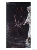 Peter Walks on the Sea Giclee Print by James Tissot