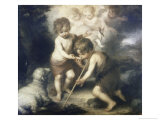 Jesus and John the Baptist Giclee Print by Bartolome Esteban Murillo