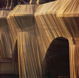 Pont Neuf Wrapped IX, c.1985 Photographic Print by  Christo