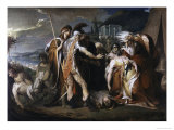 King Lear Weeping over the Body of Cordelia Giclee Print by D. F. Barry