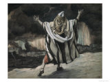 Abraham Sees Sodom in Flames Premium Giclee Print by James Tissot
