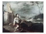 The Prodigal Son Feeding the Swine Giclee Print by Bartolome Esteban Murillo
