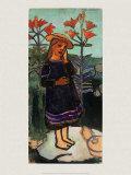 Elsbeth zwischen Feuerlilien Prints by Paula Modersohn-Becker