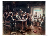 Signing of the Mayflower Compact Giclee Print by Edward Moran