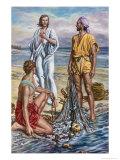 Jesus and the Fishermen Giclee Print by Fortunino Matania