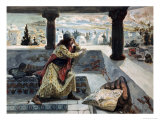 David Sees Sheba Bathing Giclee Print by James Tissot