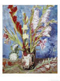 Vase with Gladioli Giclee Print by Vincent van Gogh