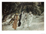 Disciples on the Road to Emmaus Giclee Print by James Tissot