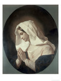 Madonna in Prayer Premium Giclee Print by Giuseppe Molteni