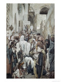 Healing of the Woman with an Issue of Blood Giclee Print by James Tissot