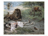 The Prophet Slain by the Lion Giclee Print by James Tissot