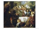Abraham and the Three Angels Giclee Print by Gaudenzio Ferrari