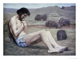 The Prodigal Son Premium Giclee Print by Pierre Puvis de Chavannes
