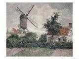 Moulin a Knocke, Belgique Reproduction procédé giclée par Camille Pissarro