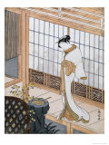 Woman in Winter Coat Giclee Print by Suzuki Harunobu