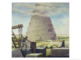 Building the Tower of Babel Giclee Print by Vittorio Bianchini