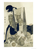 M&#232;re et enfant Reproduction proc&#233;d&#233; gicl&#233;e par Utamaro Kitagawa 