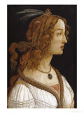 Portrait of a Young Woman Giclee Print by Sandro Botticelli