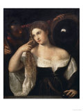 Portrait of a Woman at Her Toilette Giclee Print by  Titian (Tiziano Vecelli)