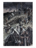 People Smote Their Breasts at What Was Done Giclee Print by James Tissot