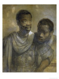 Two Black Men Giclee Print by  Rembrandt van Rijn