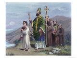 Saint Patrick Journeys to Tara Giclee Print by Vittorio Bianchini