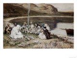 Christ Eating with His Disciples Giclee Print by James Tissot