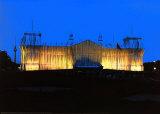 Reichstag Vorderseite nachts Photographie par  Christo