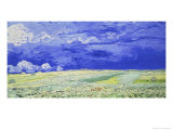 Field under a Stormy Sky Giclee Print by Vincent van Gogh