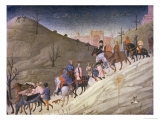 The Journey of the Magi Giclée-tryk af Sassetta,