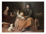 The Holy Family with a Bird Giclee Print by Bartolome Esteban Murillo