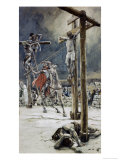 One of the Soldiers with a Spear Pierces His Side Giclee Print by James Tissot