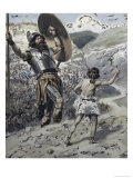 David Slings the Stone Giclee Print by James Tissot
