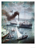 Fulton's Triumph the Clermont, c.1807 Giclee Print by H.a. Ogden