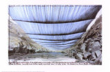 Over the River IV: Underneath Posters af  Christo