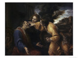 Tobias Heals His Blind Father Giclee Print by Annibale Carracci
