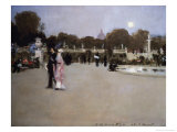 Luxembourg Gardens at Twilight Giclee Print by John Singer Sargent