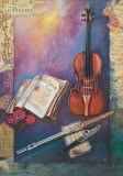Description of Music Collectable Print by Silverio Dominguez