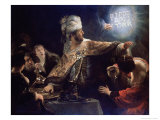 Belshazzar&#39;s Feast Reproduction proc&#233;d&#233; gicl&#233;e par Rembrandt van Rijn 