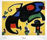Personatges i Ocells Amb un Gos, c.1978 Prints by Joan Miró