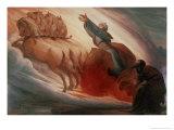 Elijah Giclée-Druck von Edward Jakob Von Steinle