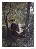 Singing in the Garden Giclee Print by Hans Thoma