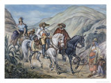 Residents of Minas Gerais Giclee Print by Johann Lorenz Rugendas