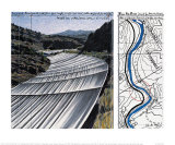 Over The River XI: Project for Arkansas River Art by  Christo